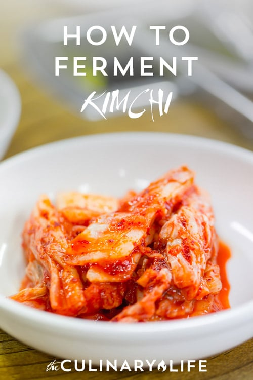 Making Kimchi: How Long to Ferment Kimchi on https://www.theculinarylife.com