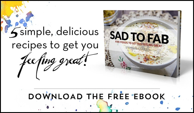 Free ebook: Sad to Fab - 5 Foods to Get You Feeling Great