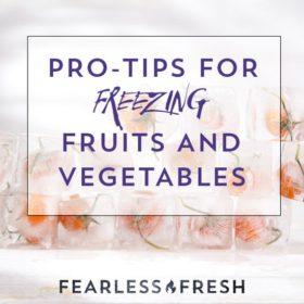 How to Freeze Vegetables: Help, My Freezer Ate My Veggies! on https://www.fearlessfresh.com