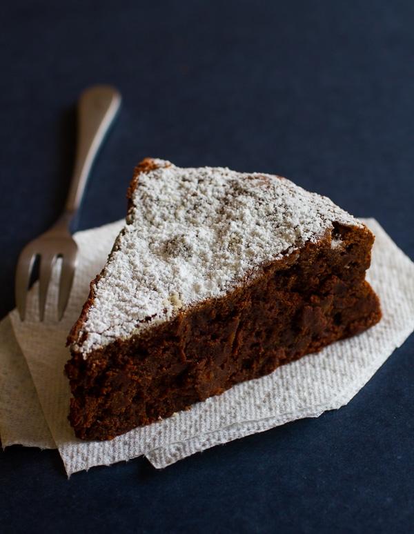 Almost Flourless Chocolate Torte with Hazelnuts