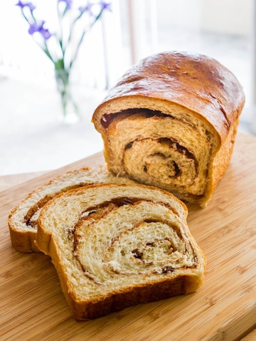 Cinnamon Swirl Bread Recipe on https://www.fearlessfresh.com