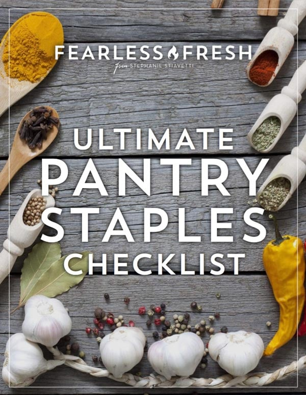 The Ultimate Pantry Staple Checklist on https://fearlessfresh.com