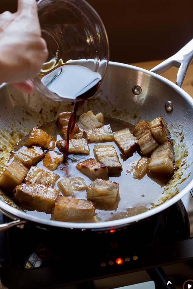 Red-Cooked Pork Belly Recipe on https://fearlessfresh.com