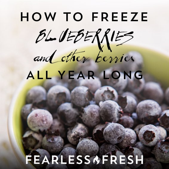 How to Freeze Blueberries, Strawberries, Blackberries, and Other Berries on https://fearlessfresh.com