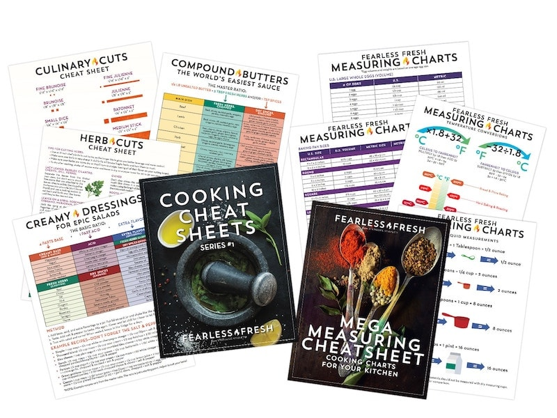 Cooking Cheat Sheets on https://shop.fearlessfresh.com
