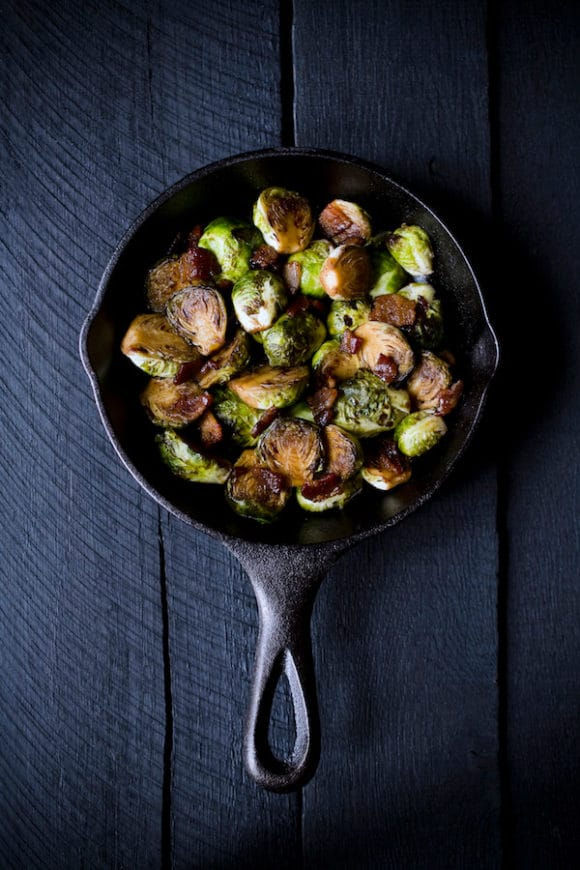 Brussels Sprouts with Bacon and Maple