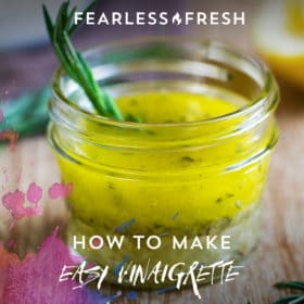 How to Make Salad Dressing -- Easy Vinaigrette