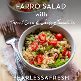 Farro Salad Recipe with Corn and Cherry Tomatoes