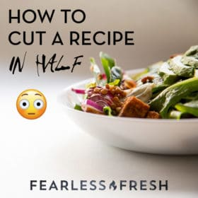 How to Cut a Recipe in Half